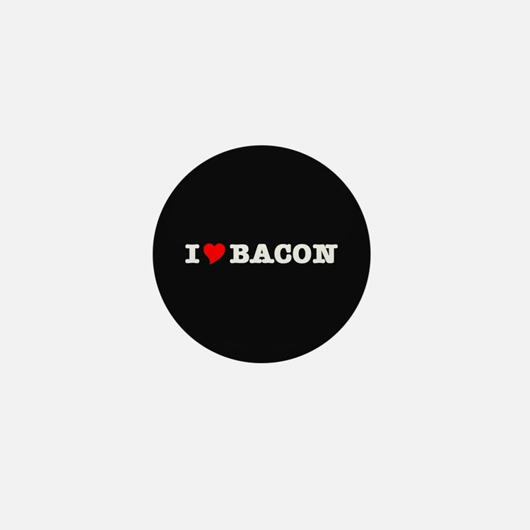 Bacon I Love Heart Mini Button (100 pack)