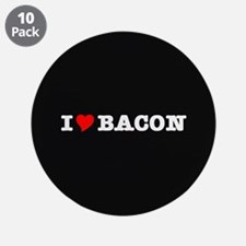 """Bacon I Love Heart 3.5"""" Button (10 pack)"""