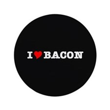 """Bacon I Love Heart 3.5"""" Button (100 pack)"""