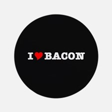 "Bacon I Love Heart 3.5"" Button (100 pack)"