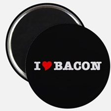Bacon I Love Heart Magnet