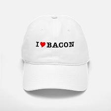 Bacon I Love Heart Baseball Baseball Cap