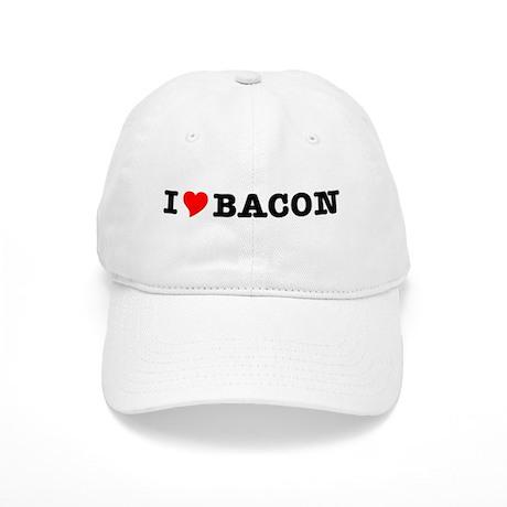 Bacon I Love Heart Cap
