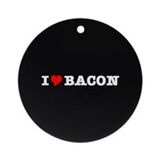 Bacon I Love Heart Ornament (Round)