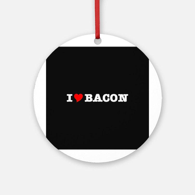 Bacon I Love Heart Ornament (Round)