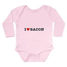 Bacon I Love Heart Long Sleeve Infant Bodysuit