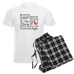 Oral Cancer Words Men's Light Pajamas