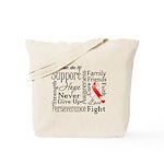 Oral Cancer Words Tote Bag
