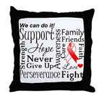 Oral Cancer Words Throw Pillow