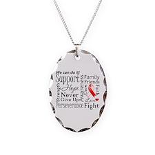 Oral Cancer Words Necklace