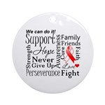 Oral Cancer Words Ornament (Round)