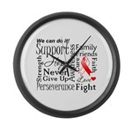 Oral Cancer Words Large Wall Clock