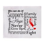 Oral Cancer Words Throw Blanket