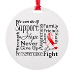 Oral Cancer Words Round Ornament