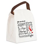 Oral Cancer Words Canvas Lunch Bag