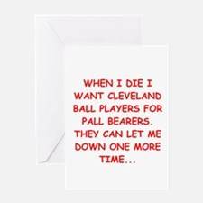 cleveland fan Greeting Card