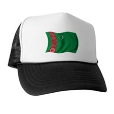 Wavy Turkmenistan Flag Trucker Hat