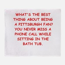 pittsburgh hater Throw Blanket