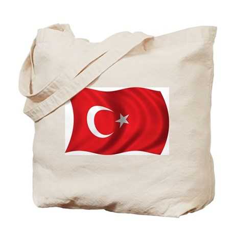 Wavy Turkey Flag Tote Bag