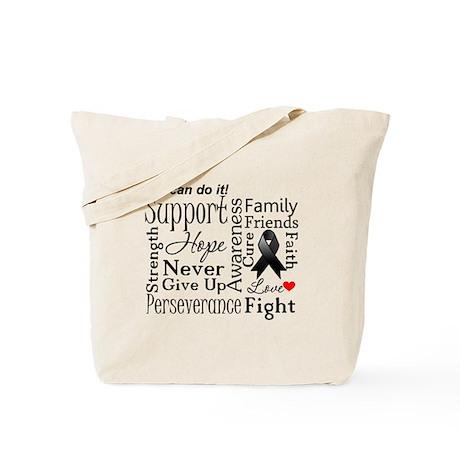 Melanoma Words Tote Bag