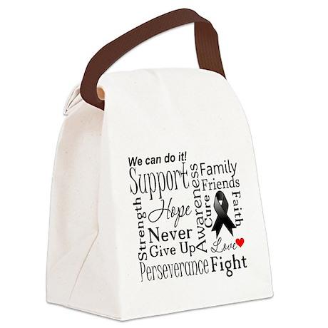 Melanoma Words Canvas Lunch Bag