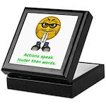 Actions Speak Loud Keepsake Box