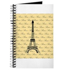 Yellow and Black Paris Eiffel Tower Journal