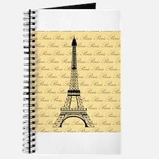 Yellow and Black Paris Eiffel Tower Journal