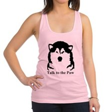 Talk to the paw Racerback Tank Top