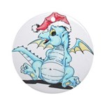 Mistletoe the christmas dragon - Ornament (Round)