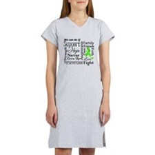 Lymphoma Support Words Women's Nightshirt