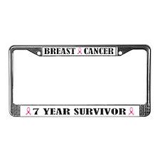Breast Cancer 7 Year Survivor License Frame
