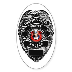 Prayer Police Oval Sticker