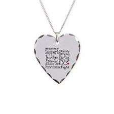 Lung Cancer Words Necklace