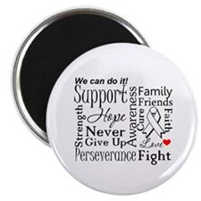 """Lung Cancer Words 2.25"""" Magnet (10 pack)"""