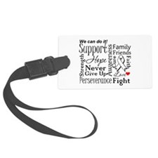 Lung Cancer Words Luggage Tag