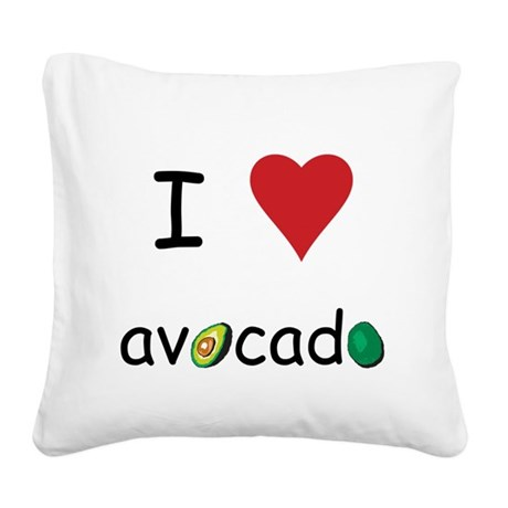 avocado.png Square Canvas Pillow