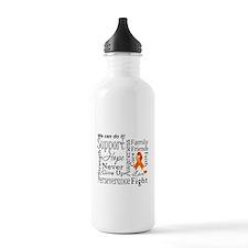 Kidney Cancer Words Water Bottle
