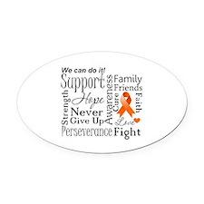 Kidney Cancer Words Oval Car Magnet