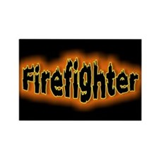 """Firefighters Black"" Rectangle Magnet"
