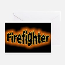 """Firefighters Black"" Greeting Cards (Pk of 10)"