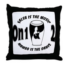 Salsa On1 & On2 MusicDance Throw Pillow