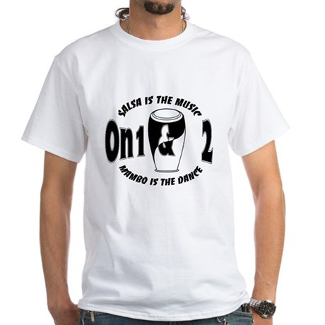 Salsa On1 & On2 MusicDance White T-Shirt