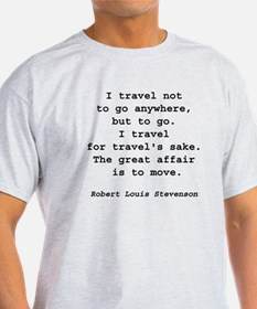 Travel to Go Ash Grey T-Shirt
