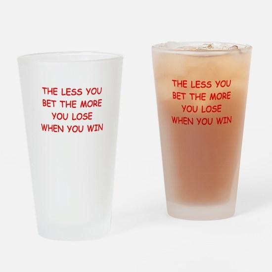 gamble Drinking Glass