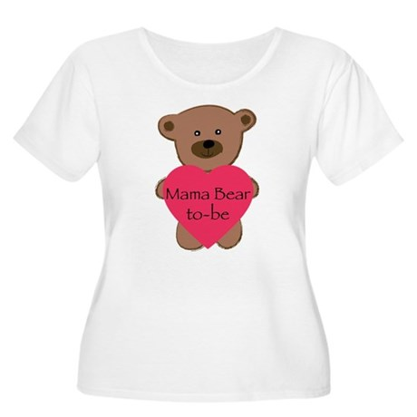 Mama Bear To-Be Women's Plus Size Scoop Neck T-Shi