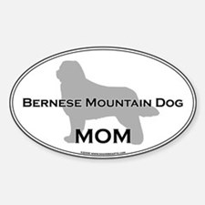 Bernese MOM Oval Decal