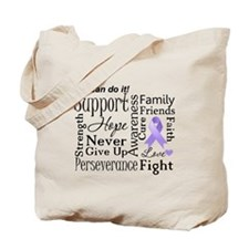General Cancer Words Tote Bag