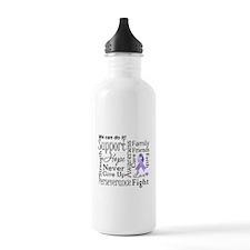 General Cancer Words Water Bottle