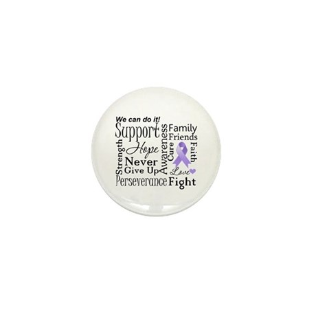 General Cancer Words Mini Button (10 pack)